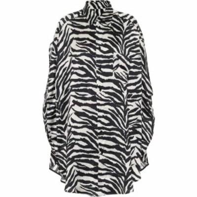 メゾン マルジェラ MM6 Maison Margiela レディース ブラウス・シャツ トップス Oversized Zebra-Print Shirt Zebra Print White Black