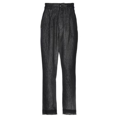HIGH パンツ ブラック 38 コットン 63% / バージンウール 24% / レーヨン 11% / ポリエステル 1% / ナイロン 1% パ