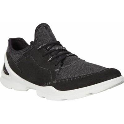 エコー レディース スニーカー シューズ Women's ECCO BIOM Street Lace Up Sneaker Black/Black Leather/Textile