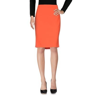 BOUTIQUE MOSCHINO ひざ丈スカート オレンジ 48 トリアセテート 70% / ポリエステル 30% ひざ丈スカート