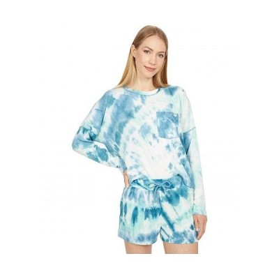 Roxy ロキシー レディース 女性用 ファッション Tシャツ Sunshine Spirit Long Sleeve Top - Beach Glass Spiral Tie-Dye