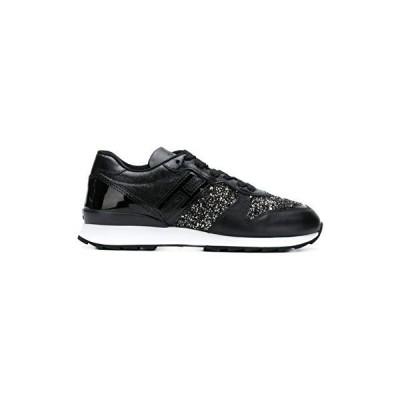 [HOGAN] レディース Hxw2610y930jh50zz8 ブラック 革 運動靴 並行輸入品