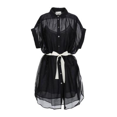 セミクチュール SEMICOUTURE ミニワンピース&ドレス ブラック 44 コットン 69% / シルク 31% ミニワンピース&ドレス