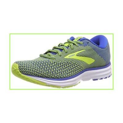 Brooks Mens Revel 2 Running Shoe, Blue/Lime/White, 10.5 US【並行輸入品】