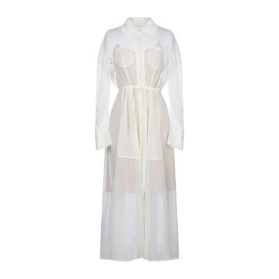 VERONIQUE LEROY 7分丈ワンピース・ドレス ホワイト 40 ナイロン 67% / シルク 33% 7分丈ワンピース・ドレス