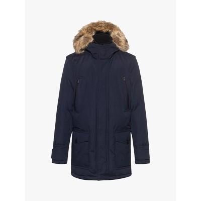 ヒューゴボス ジャケット&ブルゾン メンズ アウター BOSS Ocoolio Faux Fur Parka Jacket, Dark Blue