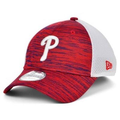 ニューエラ メンズ 帽子 アクセサリー Philadelphia Phillies English Knit Neo 39THIRTY Cap Red/White