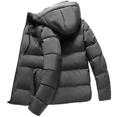 ダウンジャケット メンズ 防寒 軽量 メンズ アウター ダウン メンズ 冬 暖かい ダウンコート メンズ 中綿 ジャケット フード付き メンズ冬服 灰