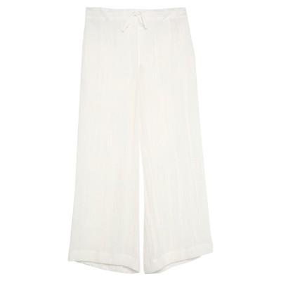 ジル サンダー JIL SANDER パンツ ホワイト 40 リネン 100% / コットン パンツ