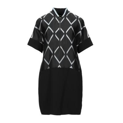 VERSACE JEANS ミニワンピース&ドレス ブラック 40 アセテート 52% / レーヨン 48% / ポリエステル ミニワンピース&ドレス