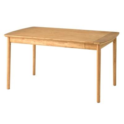 軽く引き出せる北欧調エクステンションダイニングテーブル<2人用/4人用/6人用>