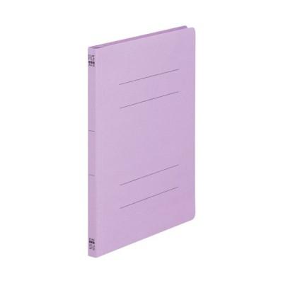 TANOSEE フラットファイル(ノンステープルタイプ) A4タテ 150枚収容 背幅18mm 紫 1パック(10冊)