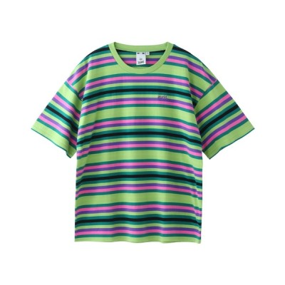 X-girl / STRIPED RELAX S/S TEE WOMEN トップス > Tシャツ/カットソー