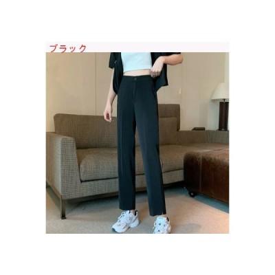【送料無料】夏 韓国風 ルース やせている スーツのズボン スプリット ストレート   346770_A63386-9625812