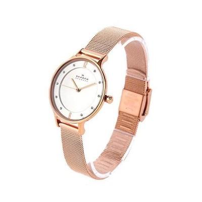 スカーゲンSKAGEN レディース スワロフスキー シルバー文字盤 ピンクゴールド SKW2151box 腕時計 並行輸入品