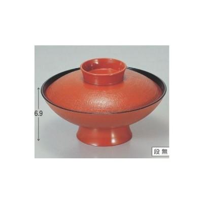 煮物椀 6寸小槌煮物椀 朱布目 高さ69 直径:180/業務用/新品