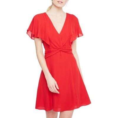 パーカー レディース ワンピース トップス Katie Twisted Short-Sleeve Dress