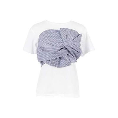 神戸レタス 2点SET ビスチェ+トップスSET Tシャツ 半袖 セットアップ レディース C3249 ワンサイズ(M) ストライプブルー