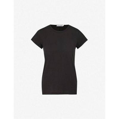 ラグ&ボーン RAG & BONE レディース Tシャツ トップス Round neck cotton-jersey T-shirt BLACK
