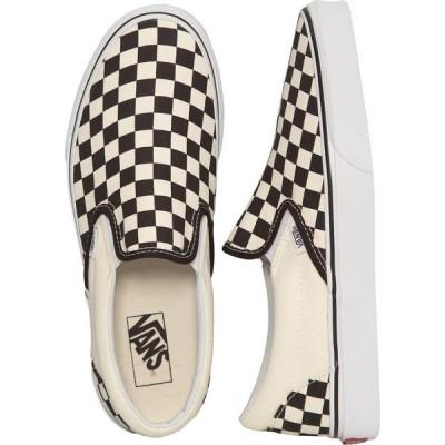ヴァンズ Vans メンズ スリッポン・フラット シューズ・靴 - Classic Slip-On Black/White Checkerboard - Shoes black