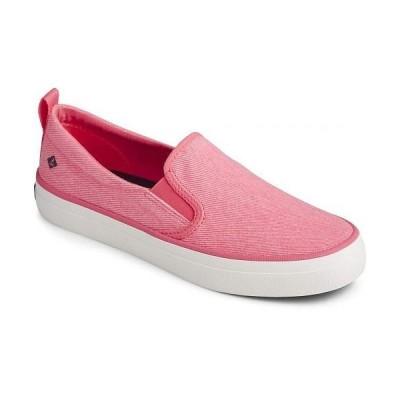 Sperry スペリー レディース 女性用 シューズ 靴 スニーカー 運動靴 Crest Twin Gore Washed Twill - Neon Pink