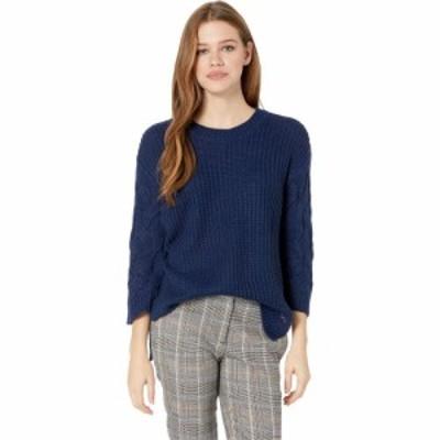 ビービーダコタ BB Dakota レディース ニット・セーター トップス Weve Got Cable Soft Sweater with Cable Knit Sleeves Dark Blue