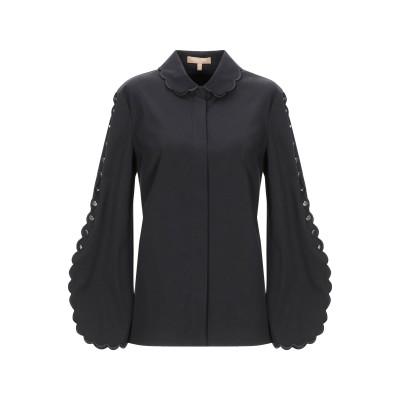 マイケル・コースコレクション MICHAEL KORS COLLECTION シャツ ブラック 2 コットン 96% / ポリウレタン 4% シャツ
