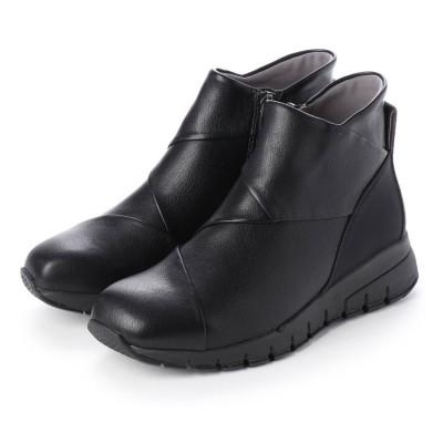 フィットフィット fitfit クロスインステップブーツ (ブラック)