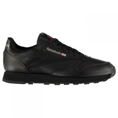 リーボック Reebok Lifestyle メンズ スニーカー シューズ・靴 Classic Leather Trainers Black