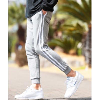 【ジギーズショップ】 スウェットジョガーパンツ & ジップパンツ / スウェットパンツ メンズ スエット スリム 細身 ジョガーパンツ スポーツ メンズ グレー系4 XS JIGGYS SHOP