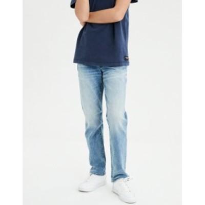 アメリカンイーグル メンズ デニムパンツ ボトムス AE Ne(X)t Level AirFlex Original Straight Jean Medium Indigo