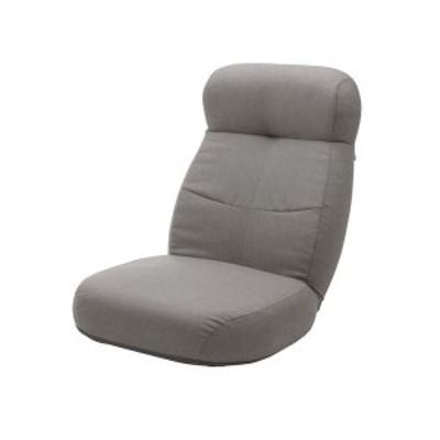 大型 座椅子/フロアチェア 〔グレー〕 幅62cm 日本製 スチールパイプ ポケットコイルスプリング 〔リビング〕 〔送料無料〕