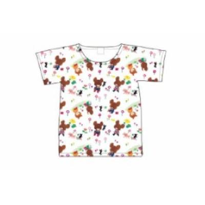 【くまのがっこう】Tシャツ【L】【総柄】【くま】【ジャッキー】【キャラ】【絵本】【シャツ】【ティーシャツ】【服】【衣服】【レディー