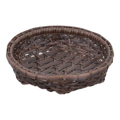 萬洋 樹脂製オードブル皿 茶 27cm 91-036B <WOC1801>