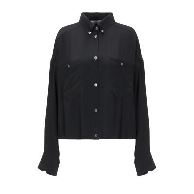 マウロ グリフォーニ MAURO GRIFONI シャツ ブラック 38 アセテート 69% / シルク 31% シャツ