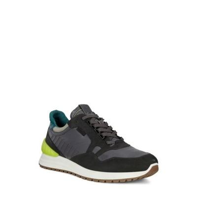エコー メンズ スニーカー シューズ Astir Athletic Sneaker BLACK/MAGNET/WILD DOVE/BAYGREEN
