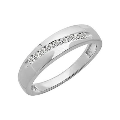【新品】Dazzlingrock Collection Sterling Silver Round Lab Created White Sapphire Me