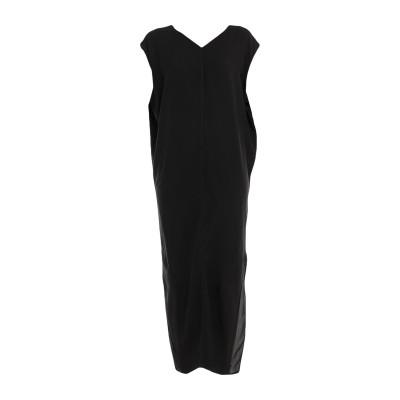 リック オウエンス RICK OWENS ロングワンピース&ドレス ブラック 40 レーヨン 84% / アセテート 16% ロングワンピース&ドレス