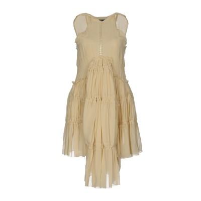 ディースクエアード DSQUARED2 ミニワンピース&ドレス アイボリー 38 100% シルク ミニワンピース&ドレス