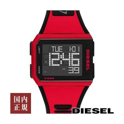 9000円以上で700円クーポン有り!ディーゼル 腕時計 メンズ レディース チョップド 39mm デジタル マットブラック/レッド DIESEL DZ1923 あすつく