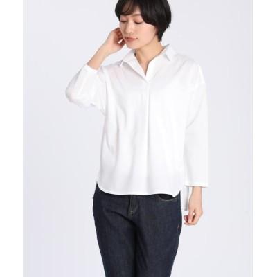 I.T.'S. international/イッツインターナショナル スキッパータックシャツ オフホワイト1 00