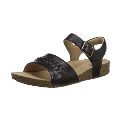 Clarks Women's Un Perri Way Sling Back Sandals, Black (Black Leather Black Leather), 6.5 UK【並行輸入品】