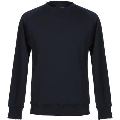 プラスピープル (+) PEOPLE スウェットシャツ ダークブルー L コットン 100% スウェットシャツ