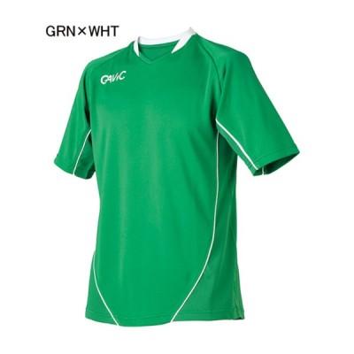 ガビック フットサル ユニフォーム ゲームシャツ ゲームトップ グリーン×ホワイト GRN×WHT GV-GA6102-GRN