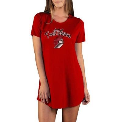 コンセプツ スポーツ レディース Tシャツ トップス Concepts Sport Women's Portland Trail Blazers Marathon Red Night T-Shirt