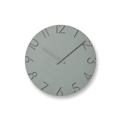 レムノス 掛け時計 カーヴド カラード アナログ 灰 直径30.5×奥行4.2cm Lemnos NTL16-07GY