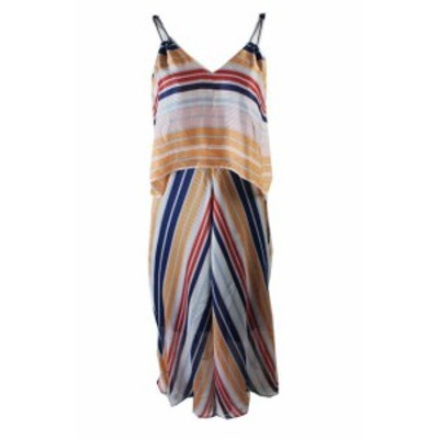 Rachel Roy レイチェルロイ ファッション ドレス Rachel Rachel Roy Orange Blue Sleeveless Striped Popover Midi Dress 4