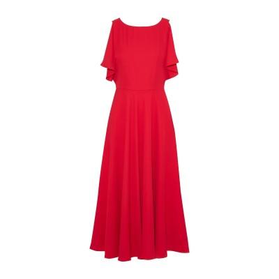 MIKAEL AGHAL 7分丈ワンピース・ドレス レッド 6 ポリエステル 100% 7分丈ワンピース・ドレス