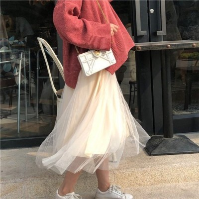 スカート ボトムス レディース KL オシャレ ロングスカート 3色 着痩せ 無地 きれいめ ハイウエスト Aライン 女性 お出かけ
