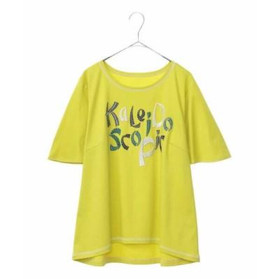 HIROKO BIS GRANDE/ヒロコビス グランデ 【洗える/日本製】メッセージ入り刺繍Tシャツ イエロー 15